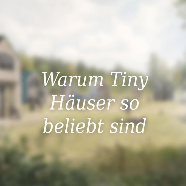 Warum Tiny Häuser so beliebt sind